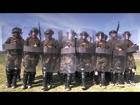 U.S. Marines 2nd Battalion, 1st Marines, Non-Lethal Riot Control
