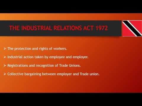 INDUSTRIAL RELATIONS TRINIDAD & TOBAGO