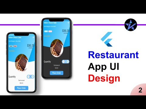 Restaurant App UI Design   Part - 2   Food items info using Clipper - Food app - Flutter