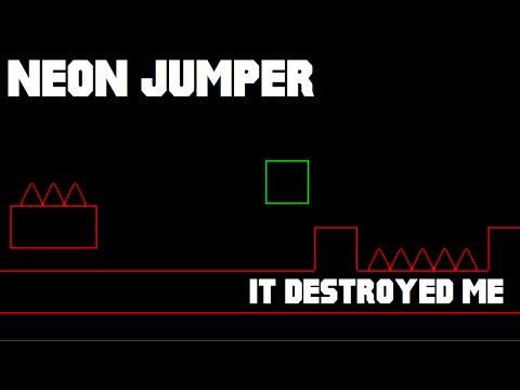 DESTROYING MY MICROPHONE | Neon Jumper (Rage Gameplay - Geometry Dash Clone - GameJolt)