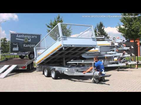 Eduard kipper 3-zijdig kippende aanhangwagen (demonstratie)