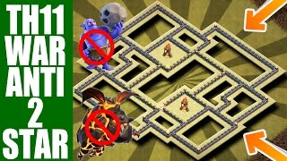 ANTI BOWITCH /LAVALOON |TH11 WAR BASE 2017 | ANTI 2 STAR REPLAY PROOF