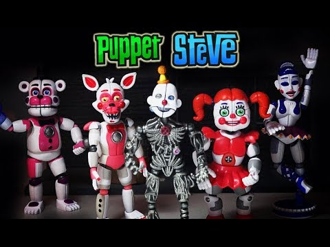 FNAF Five Nights at Freddys FUNKO Articulated 5 inch Action Figures Set Sister Location Unboxing