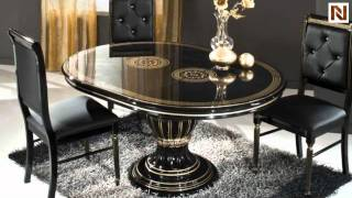 Rosella Black - Round Extend-able Dining Table Made In Italy Vgaccrosella-round-blk