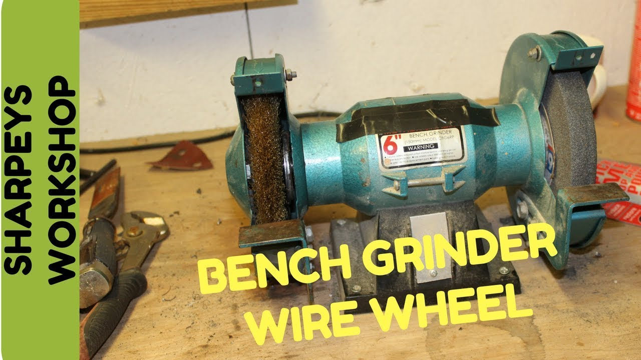 medium resolution of fitting a wire wheel to my bench grinder screwfix