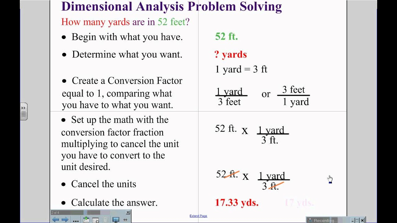 Dimensionalysis Problem Solving
