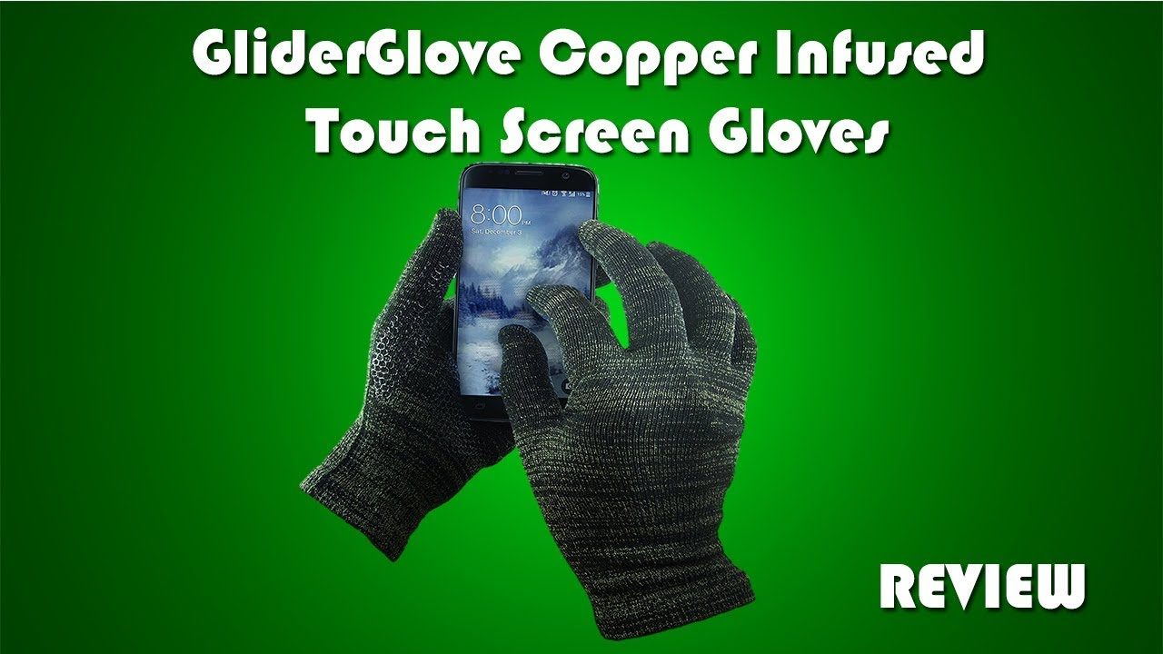 5e55fa5971 GliderGlove Copper Infused Touch Screen Gloves Review - YouTube
