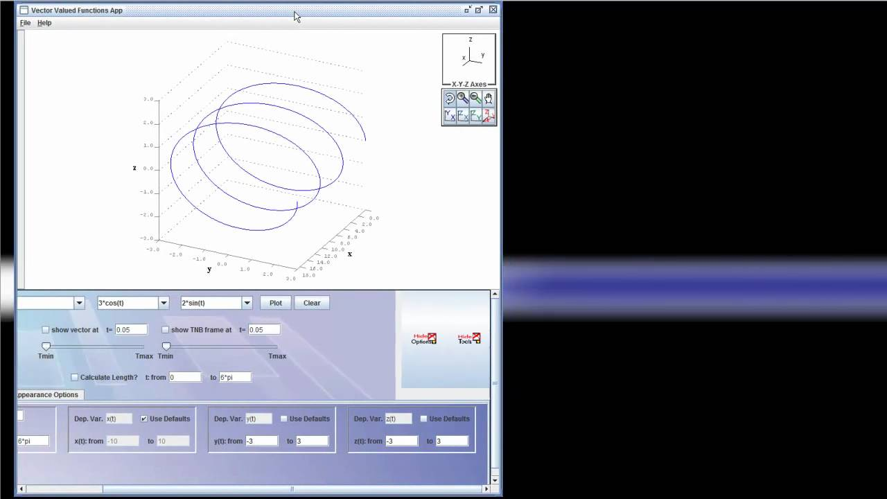 Plotting 2d and 3d Vector Valued Functions in MVT