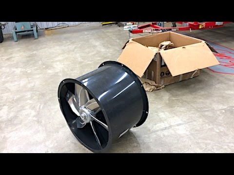 "Explosion Proof Fan >> Homemade Spray Paint Booth Part 2 - 24"" Tubeaxial Fan ..."