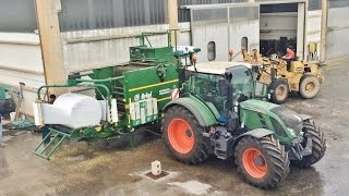 ORKEL MP 2000 Compactor | Wrapping Silage Bales + Fendt 724