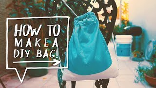 Drawstring Bag DIY | How to Make a Backpack | Back to School DIY (DIY Regreso a Clases)