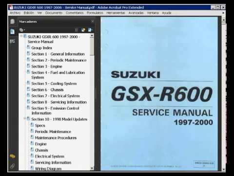 97 98 99 00 suzuki gsxr600 service repair shop manual download ma.