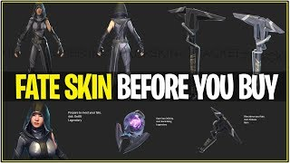 "*NEW* Fortnite: FATE SKIN ""Before you Buy"" Sound FX, Animations, and More! 