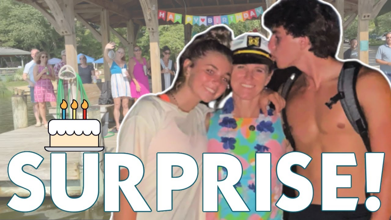 WE THREW A SURPRISE BIRTHDAY PARTY FOR MOM'S BIG BIRTHDAY