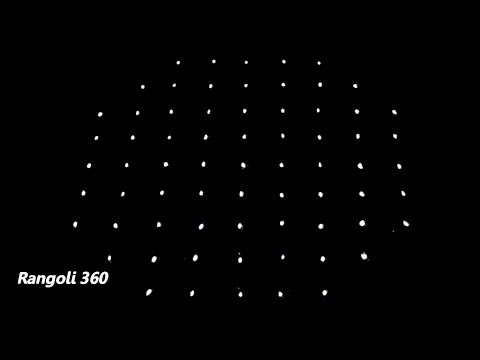 Easy Kolam Design with 9X5X5 dots | Dots Rangoli Design