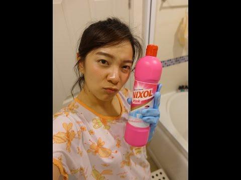 สาธิตการล้างห้องน้ำด้วย Vixol สูตรพิ้งค์พาราไดซ์