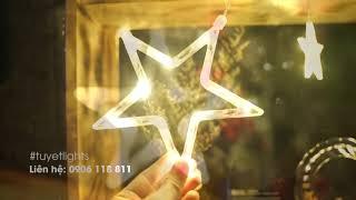 Dây đèn LED trang trí giáng sinh hình ngôi sao lấp lánh