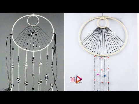 Easy DIY Amazing Dream Catcher Tutorial | How To Make Dreamcatcher With Beads and Twine