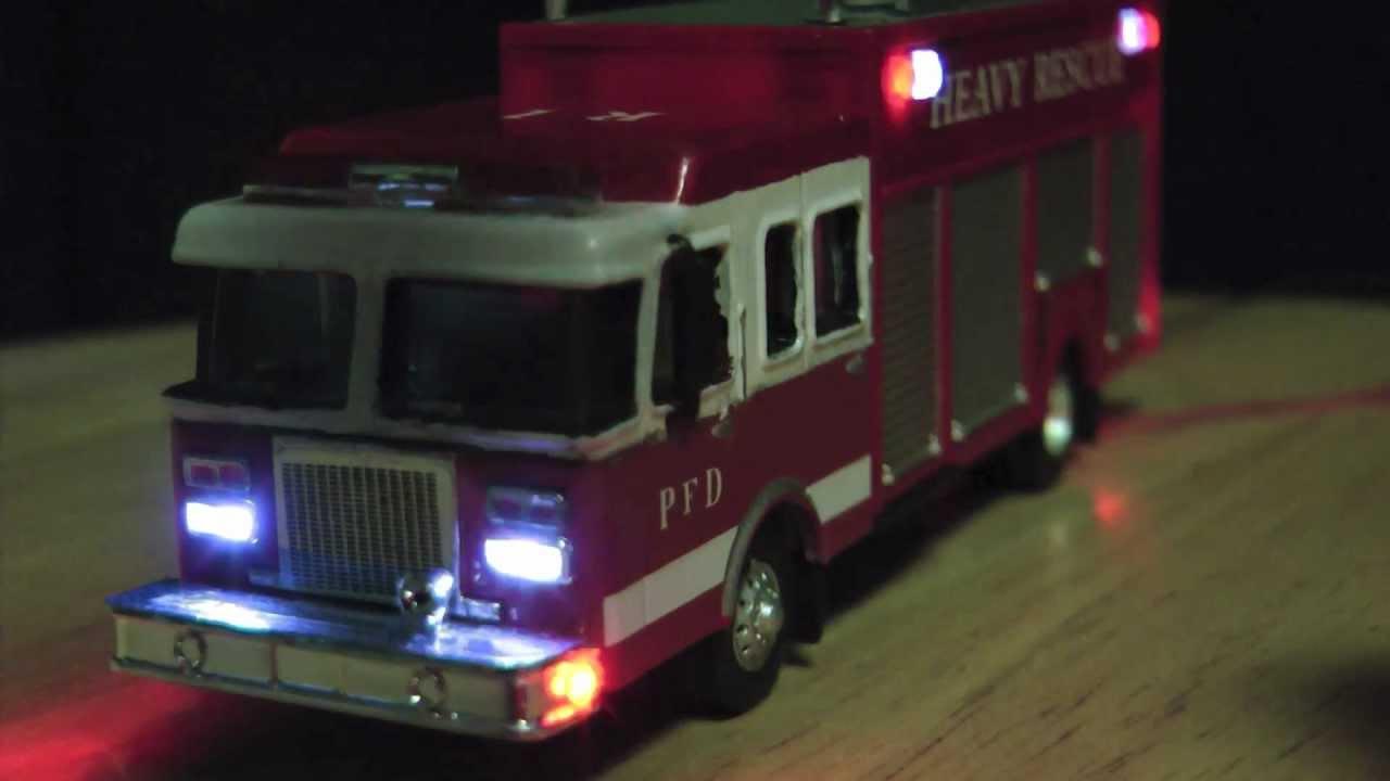 HO Boley Fire Truck with LED flashing lights