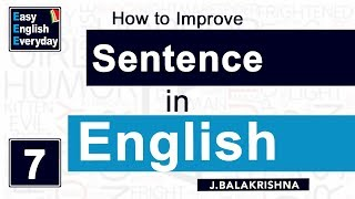 How to Improve Sentence making in English | Online English lessons | Spoken English for Students