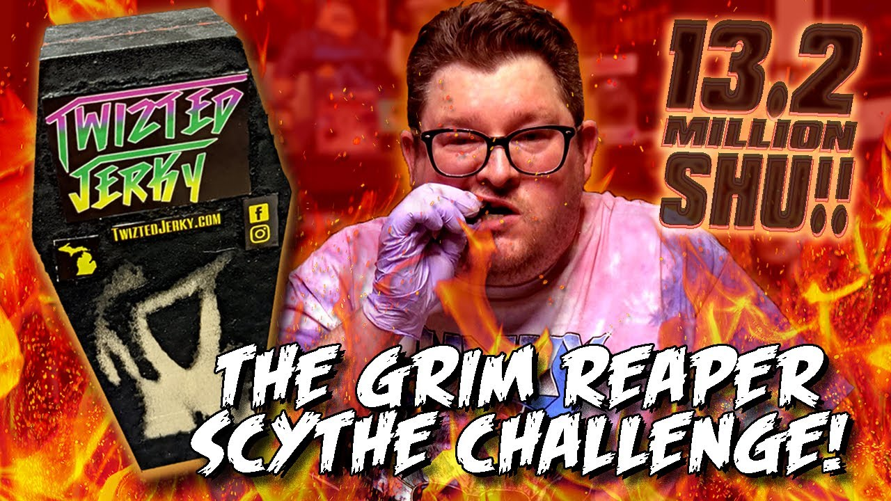 THE GRIM REAPER SCYTHE CHALLENGE *13.2 MILLION SCOVILLE!* by Twizted Jerky