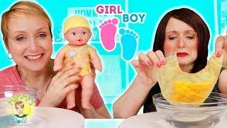 BABY GENDER REVEAL!! Gender Reveal Dolls w/ my Sister