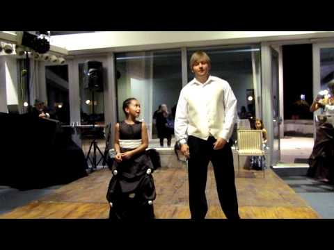 Funny Surprise Wedding Dance with Dad, Daughter and Son