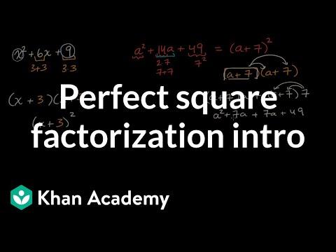 Perfect square factorization intro | Mathematics II | High School Math | Khan Academy