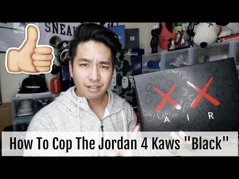 """Everything You Need To Know To Cop The Jordan 4 KAWS """"Black"""""""