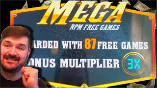 I GOT THE MEGA GAMES! 87 Games At 3X Multiplier! At The LAS VEGAS AIRPORT Of All Places!