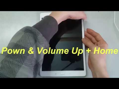 Hard reset Galaxy Tab A P555.