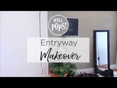 Entryway Makeover With Peel Stick Wallpaper
