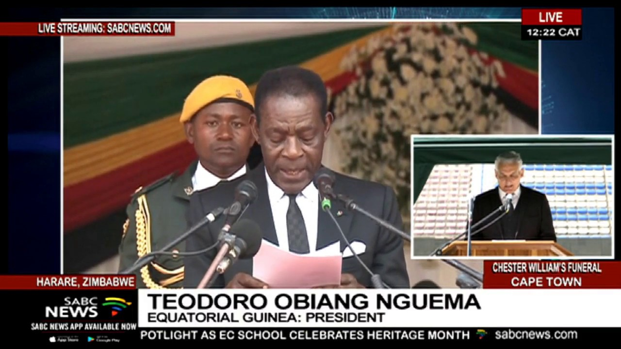 Equatorial Guinea pays tribute to the late Robert Mugabe