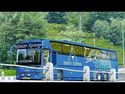 AsianXpress Scania Metrolink Bus Driving On Jowo Map | Like Tamilnadu Map Gameplay