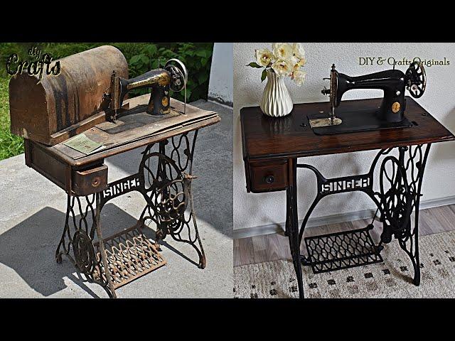 Antique Singer Sewing Machine, Restoring Antique Singer Sewing Machine Cabinet