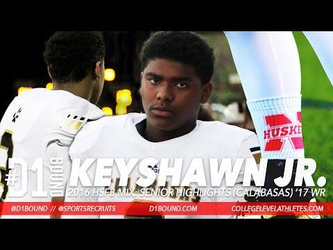 ALL HANDS: Keyshawn Johnson Jr. Senior WR Highlights (Calabasas) Nebraska Football Commit Mixtape