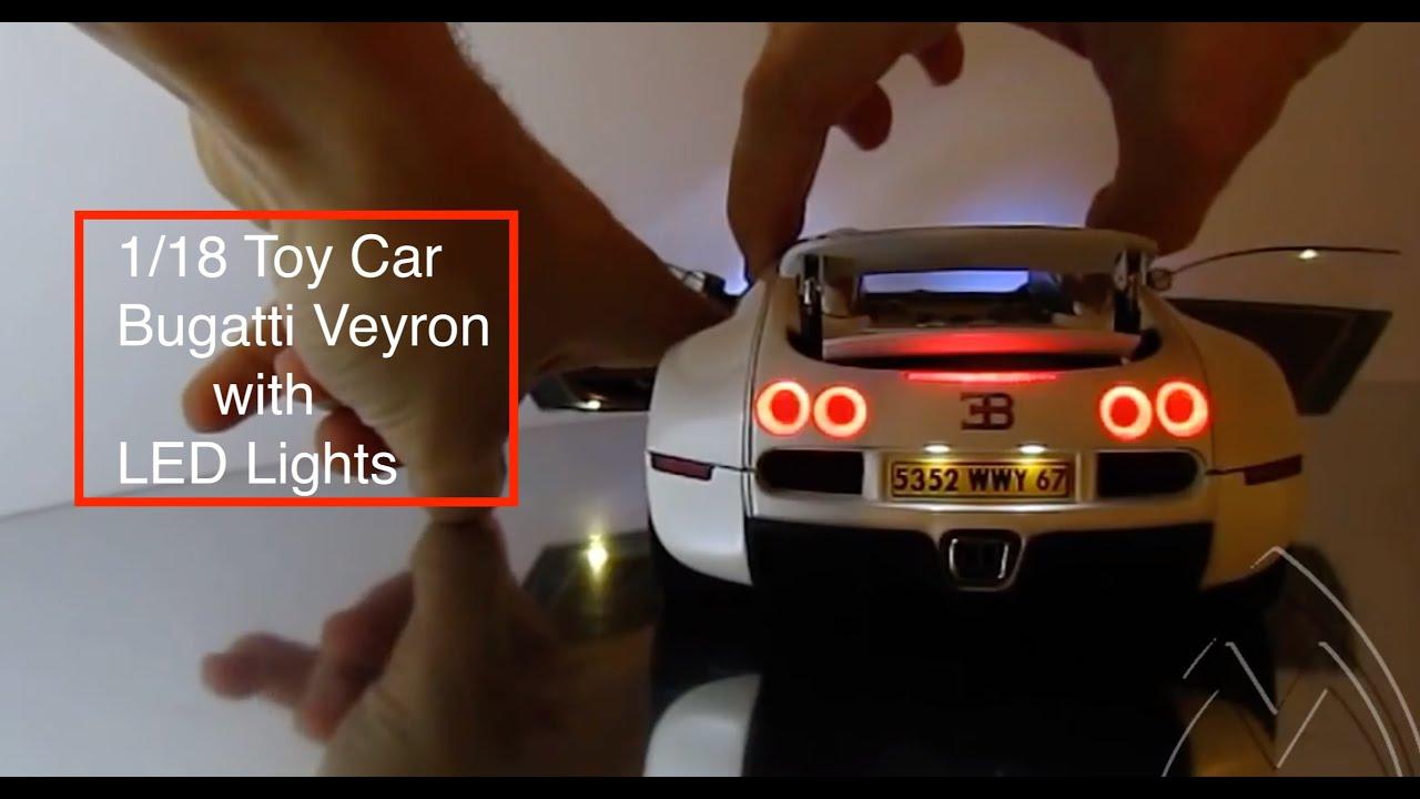 Exclusive Luxury Bugatti Veyron Diecast 1 18 Autoart Led Lights