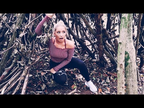 GETTING LOST IN THE WOODS WITH MY MUM!! SO WE MADE A WIGWAM?! 😂 ad