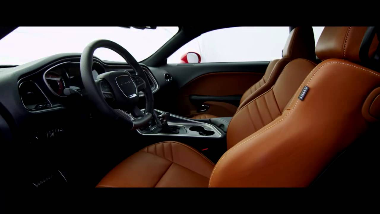 Interior 2015 Dodge Challenger Srt With Hellcat Engine Youtube