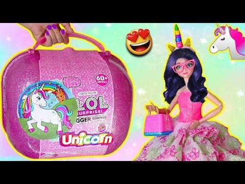 LOL BIGGER Surprise de UNICORNIO | La familia Unicornio de Marinette y Adrien abren LOL Falsa