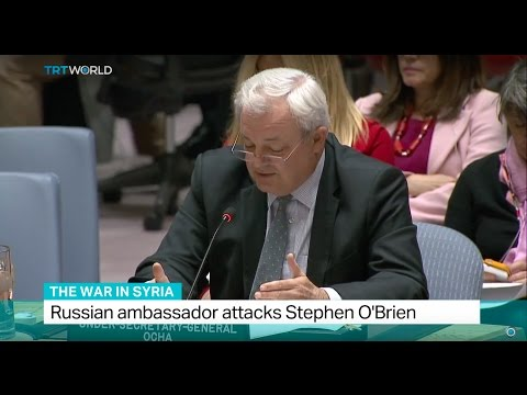 The War In Syria: UN aid chief Stephen O'Brien says Aleppo is a 'kill zone'
