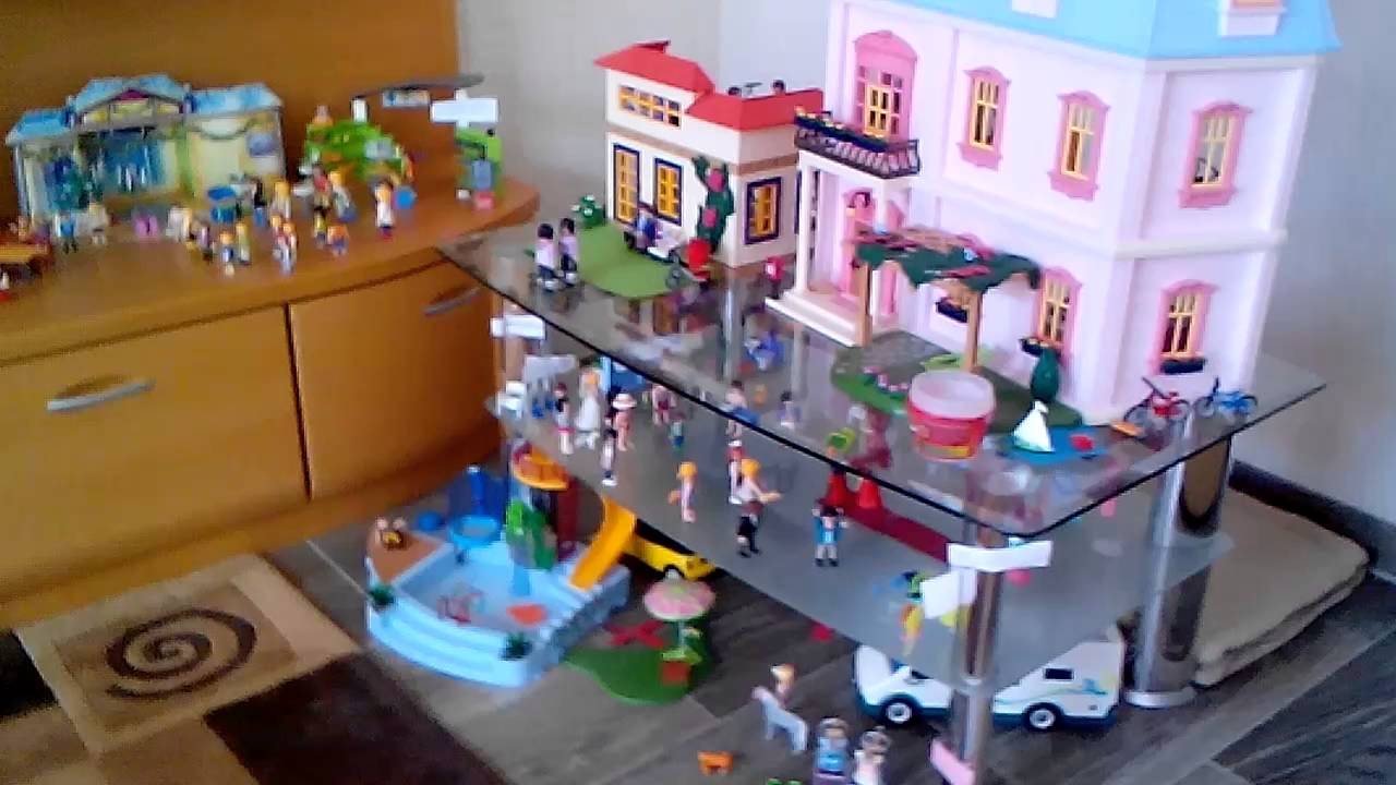 ich zeige euch meine playmobil stadt youtube. Black Bedroom Furniture Sets. Home Design Ideas