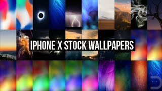 iPhone X Stock Wallpapers download link in a descriptions