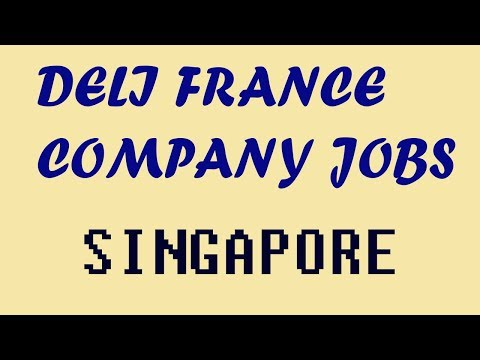 job vacancy in singapore (deli france company)