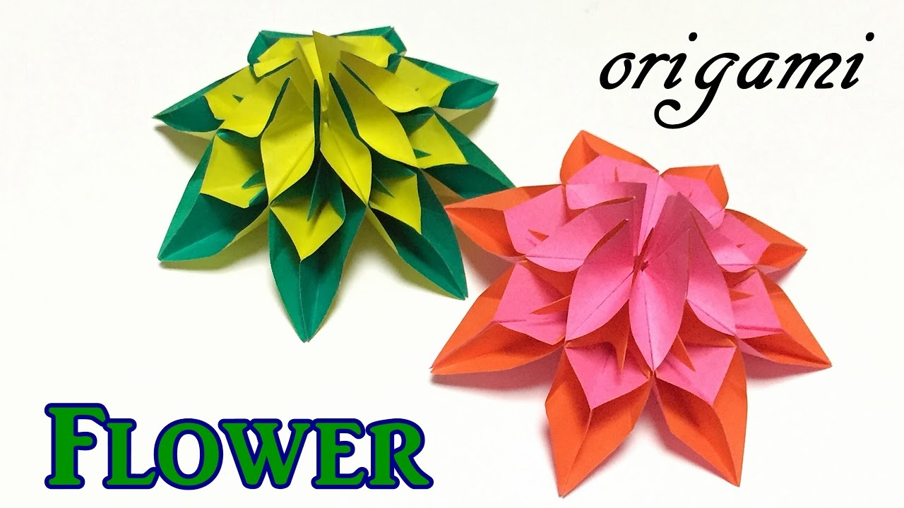 Diy paper flower origami flower easy for beginners but cool diy paper flower origami flower easy for beginners but cool origami tutorial step by step dhlflorist Choice Image