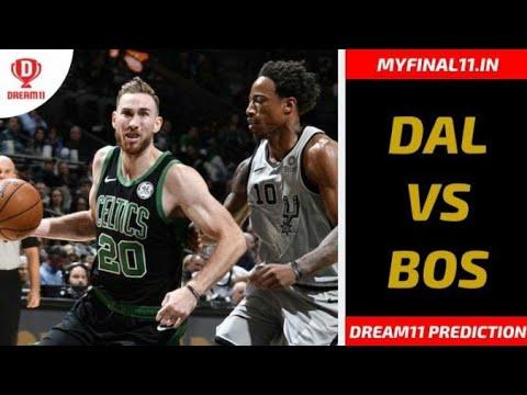 Dal Vs Bos Dream11 Team Prediction Nba 2019 20 Season Boston Celtics Vs Dallas Mavericks