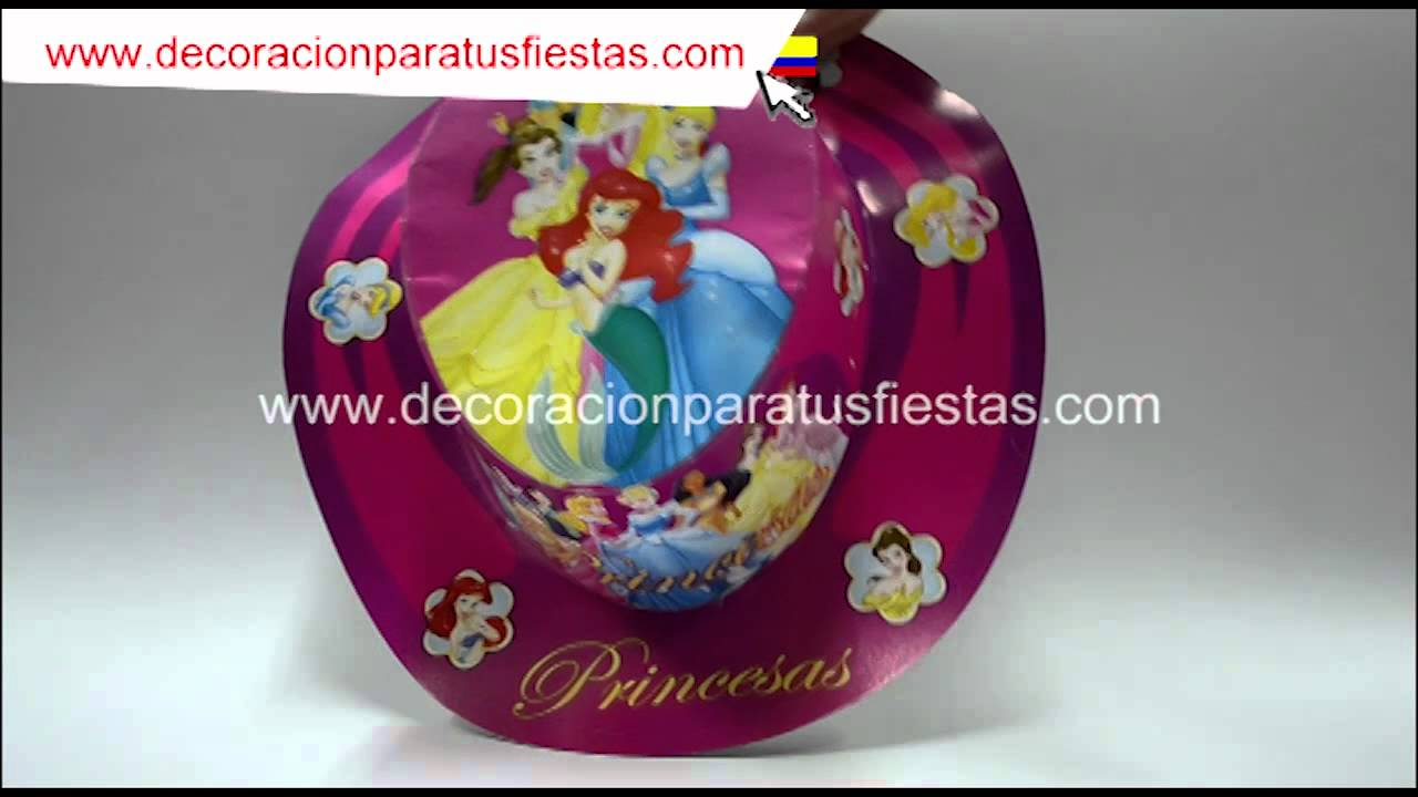 Sombrero de carton de princesas para cumpleaños infantiles YouTube