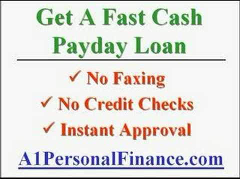 Easy Payday Loans online no faxing no credit check instant approval - YouTube