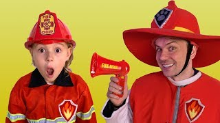 Firefighter Song with Dad, Vania and Mania | Songs for Children