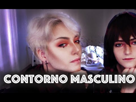 Contorno Masculino Genderfluid Cosplay Drag King Maquiagem De